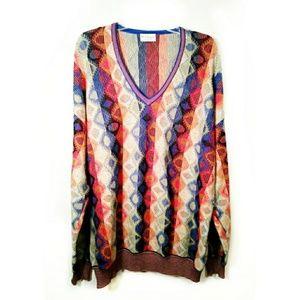 Vintage oversize Croix knit colorful sweater large